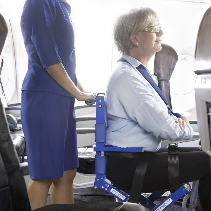 Airchair in use on aircraft